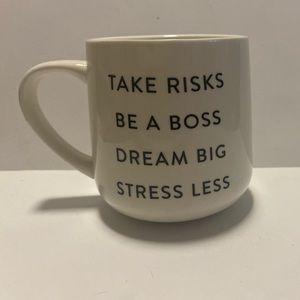 "Indigo ""Take Risks"" mug"